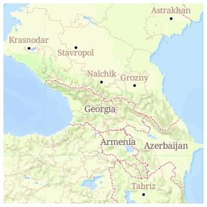 Jeff Allen Maps - Nalchik map